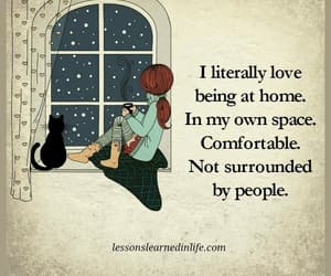 alone, introvert, and comfortable image