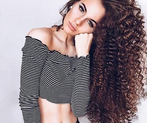 curly, hair, and love image