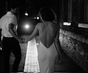 b&w, black and white, and couples image