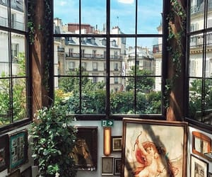 art, plants, and green image