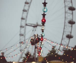 ferris wheel, fun, and old picture image