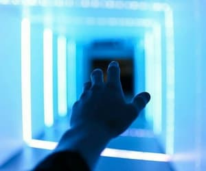 blue, aesthetic, and hand image