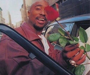 tupac, rose, and 2pac image