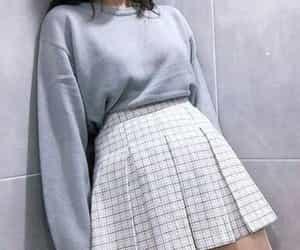 blue, fashion, and korean style image