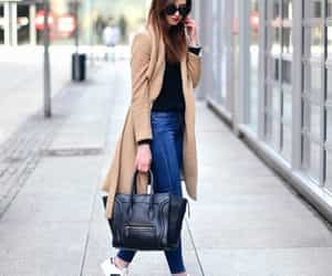 autumn, street style, and camel coat image