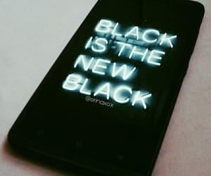 black, neon, and tumblr image
