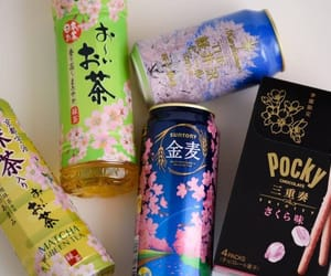 drink, japan, and pocky image