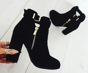 basic, black, and boots image