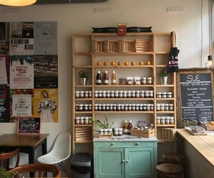 cafe, decor, and design image