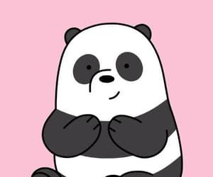 animal, cartoon, and panda image
