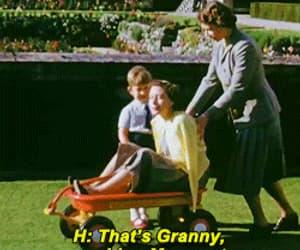 funny, elizabeth windsor, and gif image