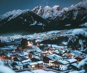 light, night, and snow image