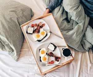 breakfast, food, and eggs image