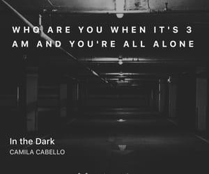 in the dark, Lyrics, and pop image