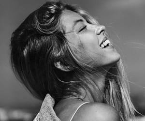 girl, black and white, and smile image