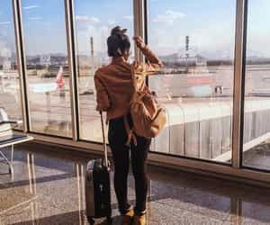 travel, airport, and girl image