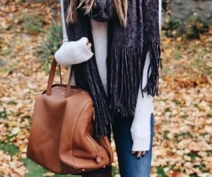 purse, scarf, and style image