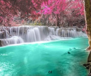 thailand, waterfall, and wonderful image