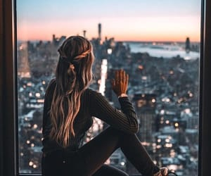 city, girl, and hair image