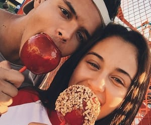 aesthetic, caramel apples, and love image