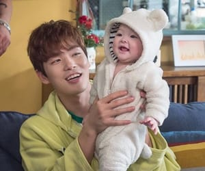 actor, korea, and baby image