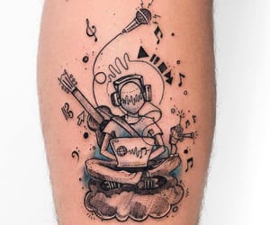 body art, inked, and music image