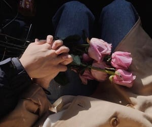 couples, flowers, and hands image