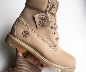 boots, tan, and timberlands image