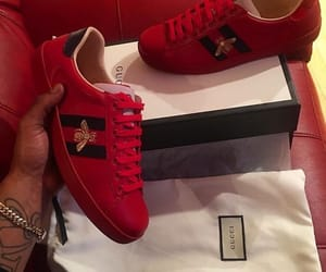red gucci ace shoe