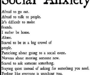 social anxiety, anxiety, and depressed image
