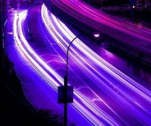 purple, light, and night image