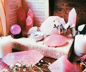 pink, crystal, and witch image