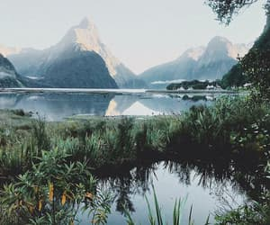 new zealand, lake, and landscape image