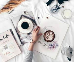 coffe, magazines, and home image