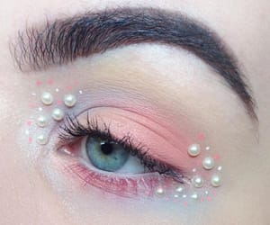 pearls, pink, and makeup image