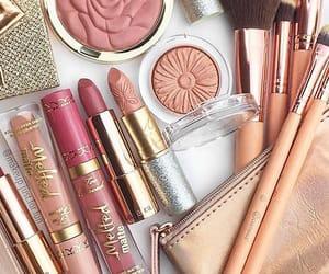 girly, makeup, and rose gold image