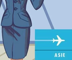 airport, aviation, and cartoons image