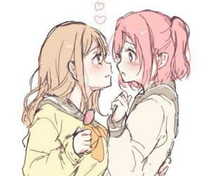 anime, pink, and yuri image