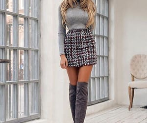 fashion, look, and grey image