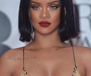 glam, makeup, and rihanna image