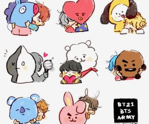 fanart, bts, and bt21 image