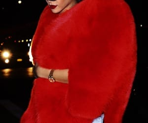 rihanna, fashion, and red image