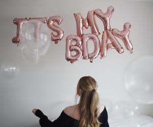 birthday, balloons, and girl image
