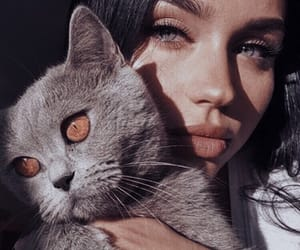 beauty, girl beauty, and cat lover image