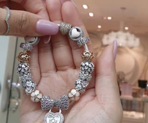 bracelet, charm, and pandora image