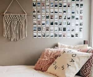 bedroom, deco, and pale image