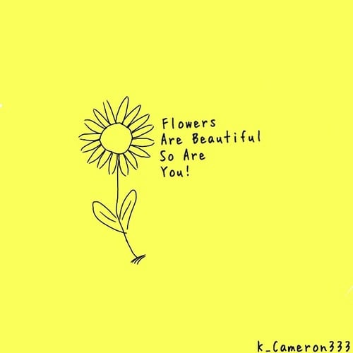 flowers and self love image