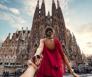 Barcelona, travel, and couple image