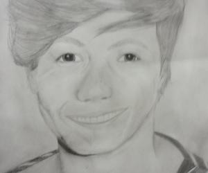 drawing, louis tomlinson, and hard core image