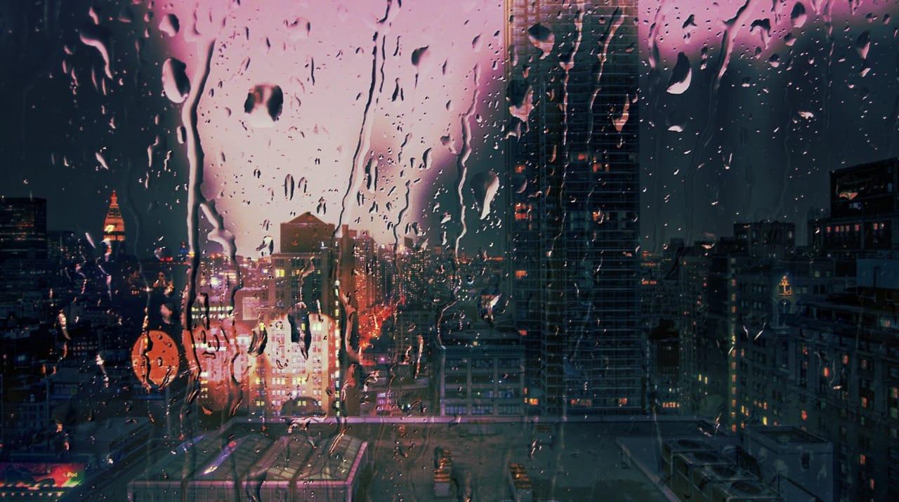 rain, city, and grunge image